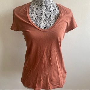 James Perse Burnt Orange Casual Tshirt Sz 2